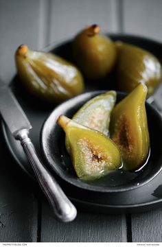 Here's How to Make a Delicious Green Fig Preserve | Recipe by The Food Fox | Photograph by Tasha Seccombe | http://www.theprettyblog.com/food/green-fig-preserve-may/