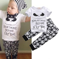 Newborn baby infant boy kid Toddler nightmare before nap 2pcs Halloween set | Baby, Clothes, Shoes & Accessories, Boys' Clothing (0-24 Months) | eBay!