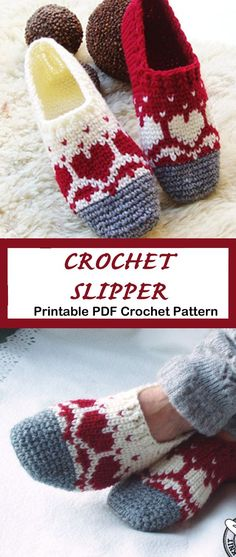 Styles Make a Pair of Cozy Slippers Looking for a cozy gift idea? Try any of these Crochet Slipper Patterns for a great gift. You can use lots of different color combos to fit anyone. Make a Pair of Cozy Slippers Looking for a cozy gift id Crochet Slipper Pattern, Knitted Slippers, Slipper Socks, Crochet Slippers, Knitted Hats, Booties Crochet, Crochet Crafts, Easy Crochet, Crochet Baby