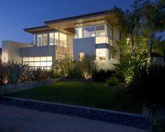 Two Story Pavilion in Transparent Design : Gorgeous Landscape Garden Lush Vegetations Herron Residence Exterior