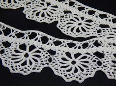 Купить Кружево для полотенца - белый, кружево, мерное кружево, крючком, тонкое кружево, рушник, полотенце