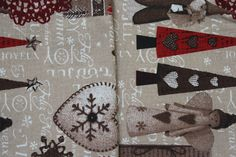 Sewn Christmas Ornaments, Tablecloths, Decorative Pillows, I Shop, Gift Wrapping, Joy, Sewing, Fabric, Gifts