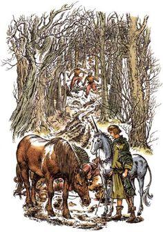 Narnia: King Tirian and Jewel in The Last Battle