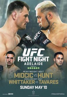 UFC Fight Night 65: Miocic vs. Hunt Fightcard