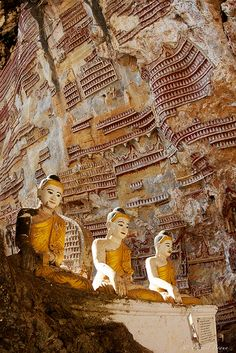 buddhist caves, kayin state, myanmar