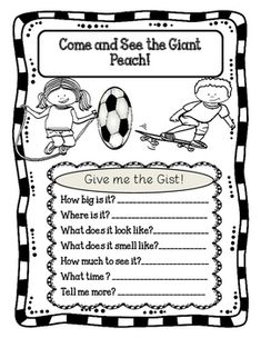 James and the Giant Peach Activities by Esther's Books World | TpT