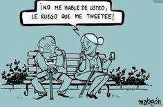 Empiece la relación con un tweet #humorgrafico #abuelosforever