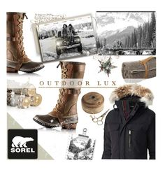 """""""Introducing the 2015 Winter Collection from SOREL: Contest Entry"""" by parkersam76 ❤ liked on Polyvore featuring Midipy, Crate and Barrel, SOREL, Jayson Home, St. Nicholas Square, polyvoreeditorial and sorelstyle"""