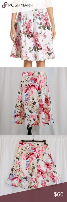 """🆕 NWT: WHBM Full A-line Floral Skirt Full / A-line skirt. Side zipper. Fully lined. Medium weight. Brand new with tags.  Check out the matching bustier-style top under a separate listing in my closet :)  Approximate measurements (taken flat) Waist = 15.5"""" Length = 24"""" White House Black Market Skirts A-Line or Full"""