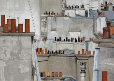 Paris Roof Tops   photo series by German photographer Michael Wolf (lives in Hong Kong, born in Münich). The focus of Michael Wolf's work is life in mega cities. He has published more than 13 photo books. http://www.photomichaelwolf.com