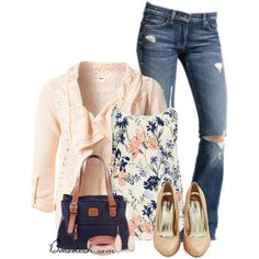 A fashion look from July 2014 featuring Object cardigans, Wallis tops and 7 For All Mankind jeans. Browse and shop related looks.