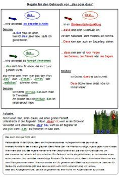 DAF DAZ Grammatik Haupt- und Nebensatz Materialien Arbeitsblätter ...
