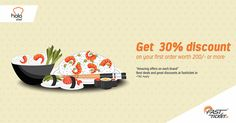 @Holached #discount #coupons Get 30% discount on your first order worth Rs 200 or more.