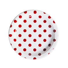 white with red plates   Red and White Polka Dots Dessert Paper Plates