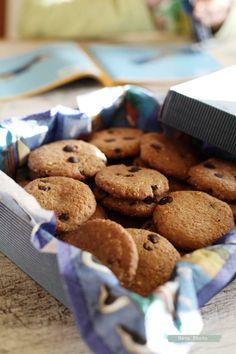 Tarjeta d embarque: Galletas de chocolate y cacahuete {Crear y reciclar}