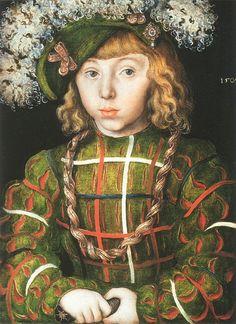 Johann Friedrich the Magnanimous, aged 6 by Lucas Cranach the Elder, 1509. (National Gallery London)