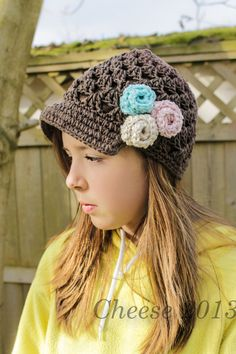 Breezy Cotton Newsboy CHILD  sizes by RockNWool on Etsy, $22.00