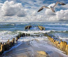 Buhnen von Rantum Sylt von rolffischer - New Ideas Water Ripples, Water Waves, Nicolas Vanier, Rivage, Lake Water, Beach Landscape, Ocean Photography, North Sea, Baltic Sea