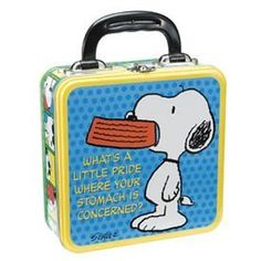 Snoopy Lunch Box Tin Bo Vintage Charlie Brown And