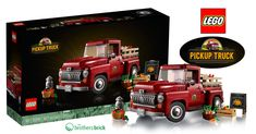 LEGO 10290 Truck Cover | The Brothers Brick | The Brothers Brick New Trucks, Pickup Trucks, Lego Tie Fighter, Batman Fight, Ghostbusters Logo, Truck Covers, Lego Kits, Lego Man, Mini Cooper S