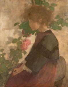 The Breton Girl ~ Stansmore Richmond Leslie Dean ~ (Scottish: Glasgow Girls, Glasgow School Of Art, Glasgow Museum, Paisley Art, Painting People, Art Uk, Your Paintings, Figurative Art, Art Girl
