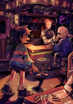 A bite to eat with Sans