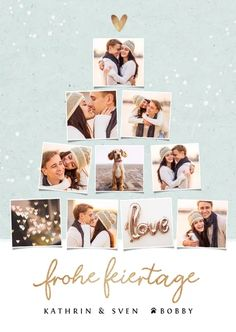 Christmas Photo Card Template, Christmas Photo Cards, Xmas Cards, Christmas Photos, Wedding Photo Books, Travel Scrapbook Pages, Christmas Collage, Photo Collage Template, Personalised Christmas Cards