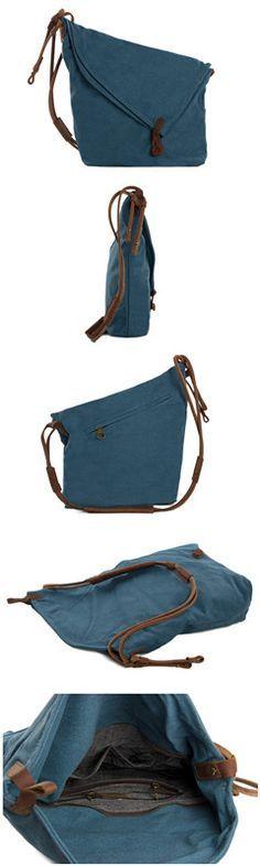 Canvas Messenger Bag Crossbody Bag Shoulder Bag