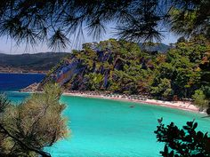 Went to Samos, Greece for the day and taxied to a beautiful beach! Most Beautiful Beaches, Beautiful Places, Amazing Places, Porches, Samos Greece, Crete, Thasos, Greek Islands, Greece Travel