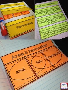 Area and Perimeter Interactive Notebook with 15 hands-on activities!