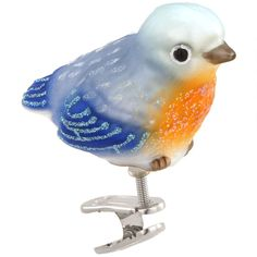 Baby Bluebird Glass Ornament $10.99
