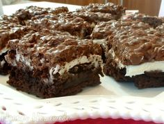 Boxed Brownie Mix Recipes | Brownie Goody Bars.....starts with a boxed Brownie mix.