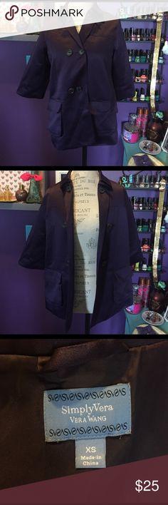 Selling this Vera Wang Coat💜 on Poshmark! My username is: madimac77. #shopmycloset #poshmark #fashion #shopping #style #forsale #Vera Wang #Jackets & Blazers