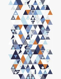 Musterbeitrag Triangles Quilt-Along Isosceles Triangle, Triangle Quilts, Triangles, Zen, Quilt Modernen, Sampler Quilts, Triangle Design, Contemporary Quilts, Blue Quilts