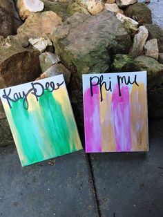 Please include sorority and colors when purchasing!  These make great new member or big/little gifts!  Allow up to one week since each canvas is custom made