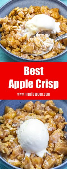 Sweet, fruity with a hint of lemony tang and perfectly spiced with cinnamon and nutmeg this Apple Crisp is simply the best!