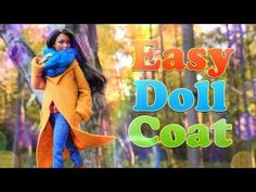 by request: Winter is right around the corner! Get your Dolls Fashionably ready with this Easy Doll Coat Sewing Craft! This is the PERFECT craft to keep you. Sewing Barbie Clothes, Barbie Sewing Patterns, Sewing Dolls, Doll Clothes Patterns, Doll Patterns, Doll Crafts, Diy Doll, Sewing Crafts, Barbie Et Ken