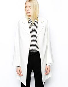 Enlarge Helene Berman Single Button Swing Coat in Cotton