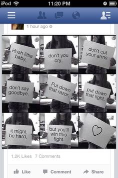 Please don't self harm, even if u think No one is there for you,just remember that I am and I love u,stay strong Thats The Way, That Way, Shrek 2, Do It Yourself Fashion, What Do You Mean, Stop Bullying, Anti Bullying, Faith In Humanity Restored, We Are The World