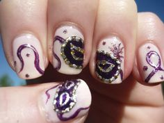 Image detail for -Mascarade Mask Nail Art Purple Acrylic Nails, Acrylic Nail Art, Acrylic Nail Designs, Seasonal Nails, Holiday Nails, Beautiful Nail Designs, Cute Nail Designs, Toe Designs, Hair And Nails