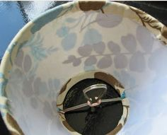 DIY: Recovering a Chandelier Shade :: A Pictorial Tutorial
