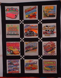 t-shirt quilt patterns | old racing t-shirts.