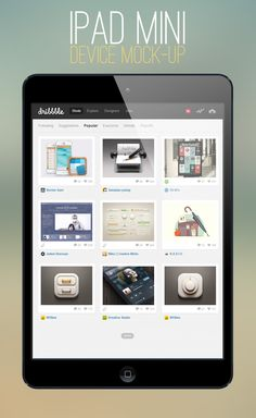 PSD SPOT » Free download User Interface Elements, UI Inspiration, GUI Design, Freebies » iPad Mini Mock-up Template
