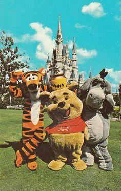 retro-disney: Disney world postcard my dad held onto from the 70s/80s