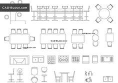 Bar furniture - free AutoCAD Blocks