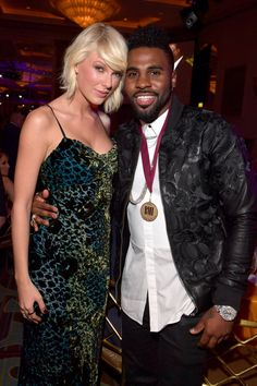 Taylor with Jason Derulo at the BMI Pop awards 2016