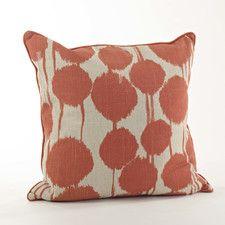 Agee Inkblot Design Cotton Throw Pillow