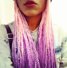 Pink and Purple Ombre Box Braids! Inexpensive ombre hair can be found here... http://s.click.aliexpress.com/e/ZfurjyNRz