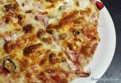 Pizza con queso de cabra y bacon #RecetasGratis #RecetasFáciles #Pizza #QuesodeCabra #Bacon