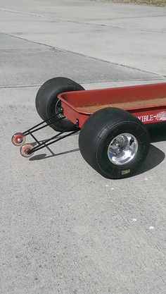 Custom made wheelie bars for your Radio Flyer, Flexible Flyer, Rat Rod, or Swap Meet wagon. These are a great companion to the parachute setup that we sell for your wagon. See the last photo showing the wheelie bars and parachute installed. Follow the link below to see the parachute listing. https://www.etsy.com/listing/265488559/custom-radio-flyer-wagon-parachute?ref=shop_home_feat_4 Sorry the wagon in the photos is for illustration purposes only and is not i...